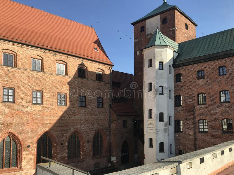 Ancient castle in Darlowo Poland royalty free stock photo
