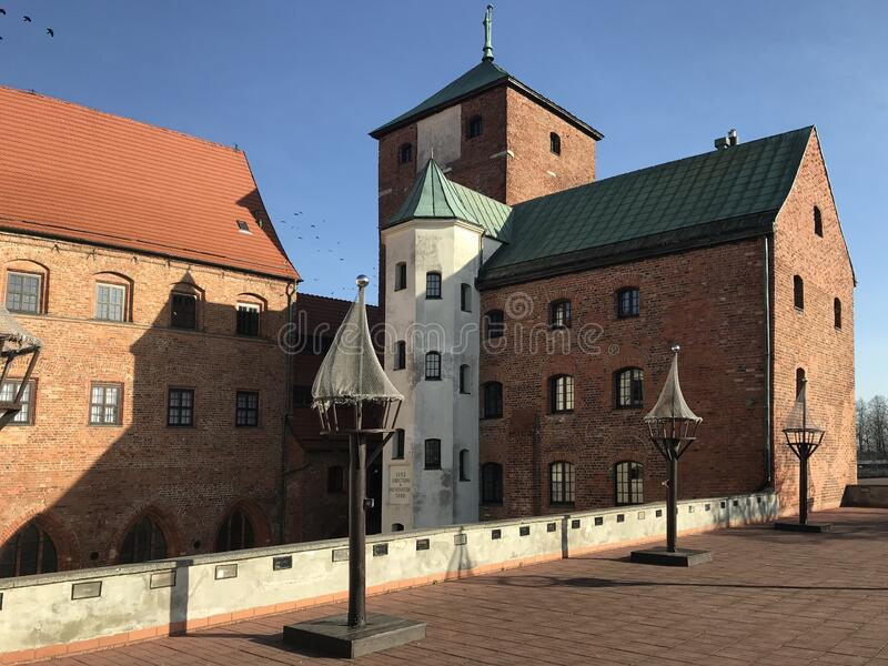 Ancient castle in Darlowo Poland. The local landmark, famous ancient castle in Darlowo Poland. Teutonic heritage known as Pomeranian Dukes Castle Zamek Ksiazat stock images