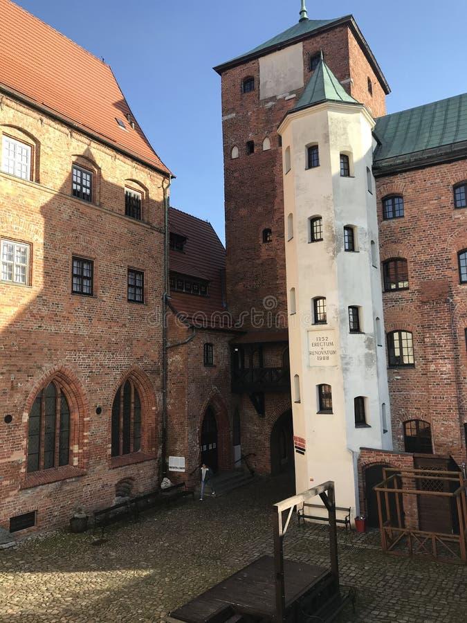Ancient castle in Darlowo Poland. The local landmark, famous ancient castle in Darlowo Poland. Teutonic heritage known as Pomeranian Dukes Castle Zamek Ksiazat stock image