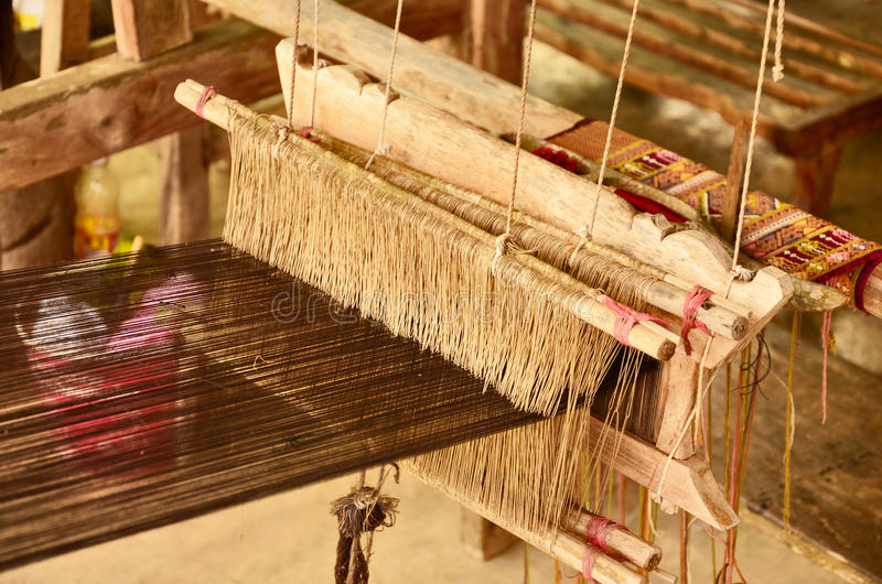 Local loom of Thai people stock image