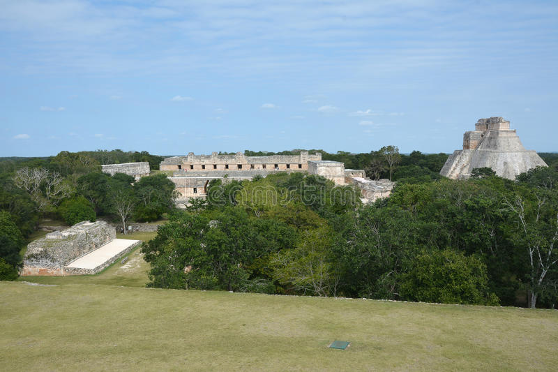 Local maia antigo Uxmal, México foto de stock