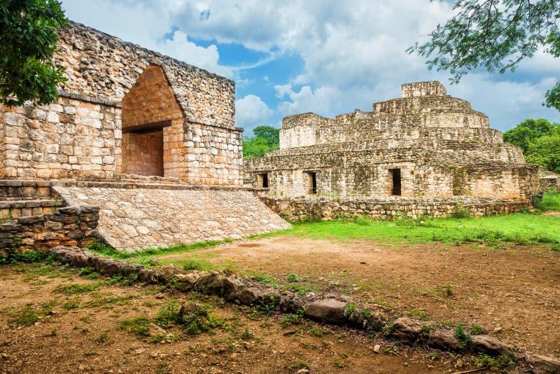Local maia de Ek Balam, México fotografia de stock