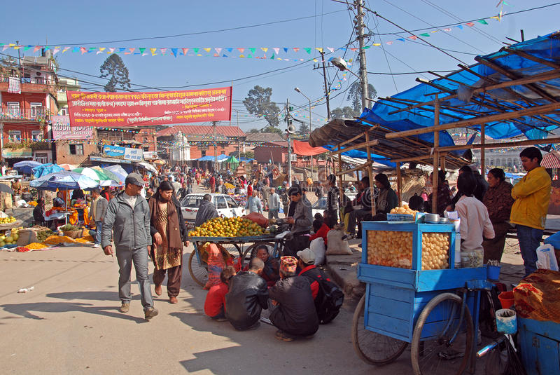 Download Local Market-Kathmandu editorial stock image. Image of people - 22461584