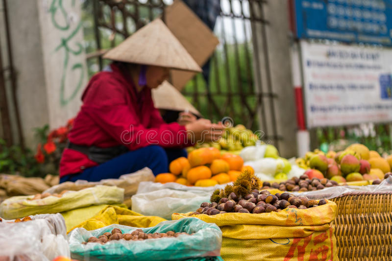 Local market in Sapa. Local fruit market in Sapa stock photo