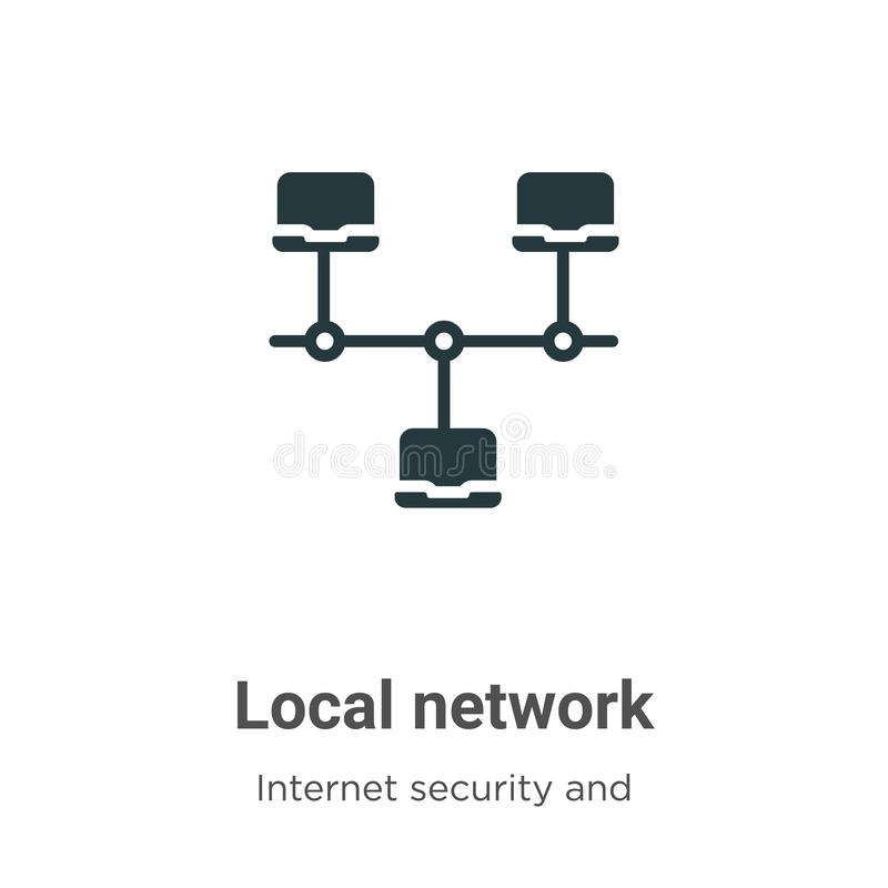 Local network vector icon on white background. Flat vector local network icon symbol sign from modern internet security and vector illustration