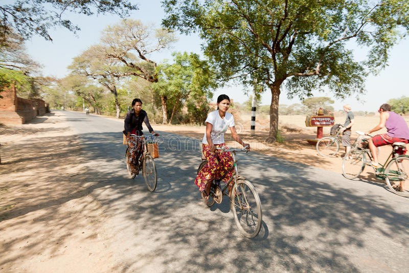 Local people in Bagan stock images