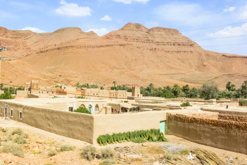 Village in the oasis royalty free stock photo
