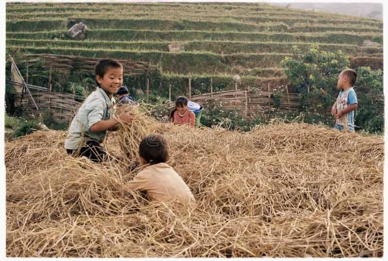 The local people in Ta Van, Sapa, Viet Nam stock photography