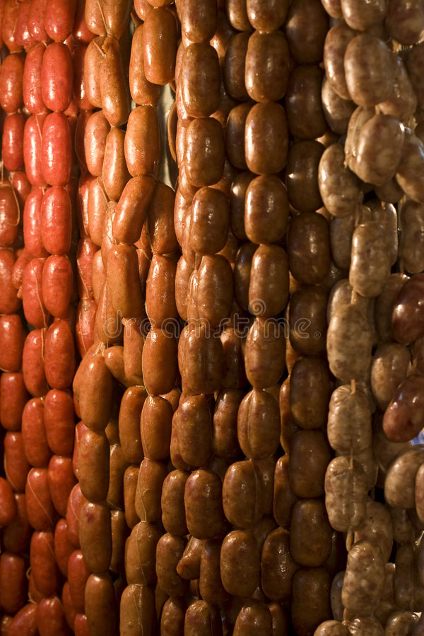 Local Sausages royalty free stock photos