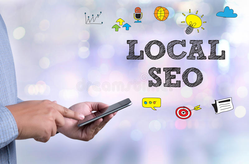 LOCAL SEO royalty free stock photos