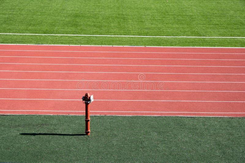 Local stadium and running track.  royalty free stock photo
