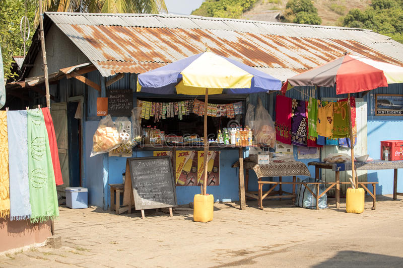 local store, Nosi Be, Madagascar stock photo