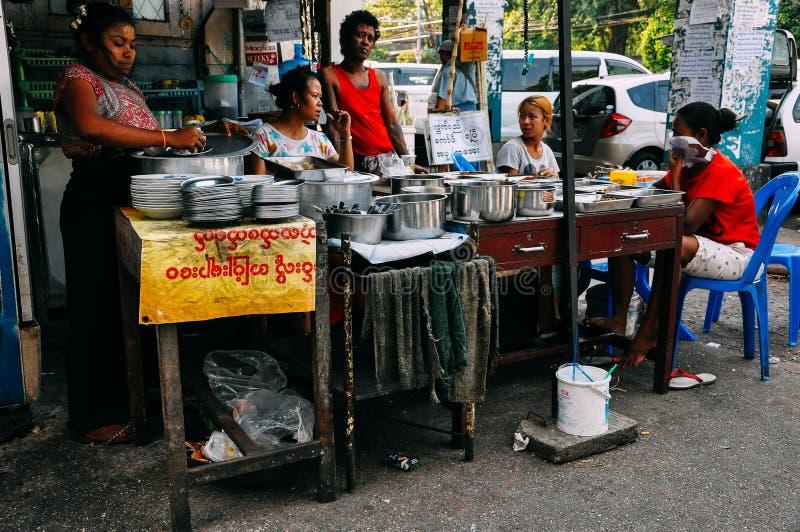 Local street food in Yangon. stock image