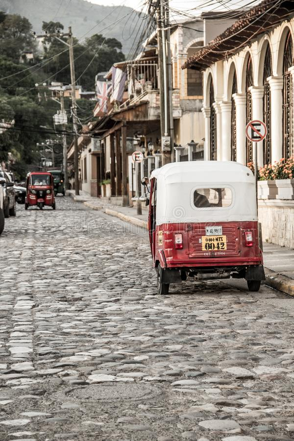 Local taxi from Copan Ruinas, Honduras royalty free stock images