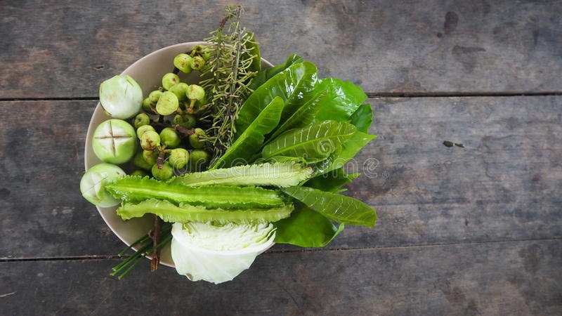 Local Vegetables in Southern of Thailand. stock images