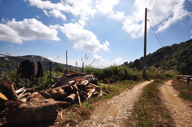 Download Local Village Dirt Road Mountain Stock Photo - Image: 20149586