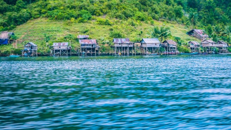 Local Village on Monsuar Island. Raja Ampat, Indonesia, West Papua. Local Village on Monsuar Island. Raja Ampat, Indonesia. West Papua royalty free stock image