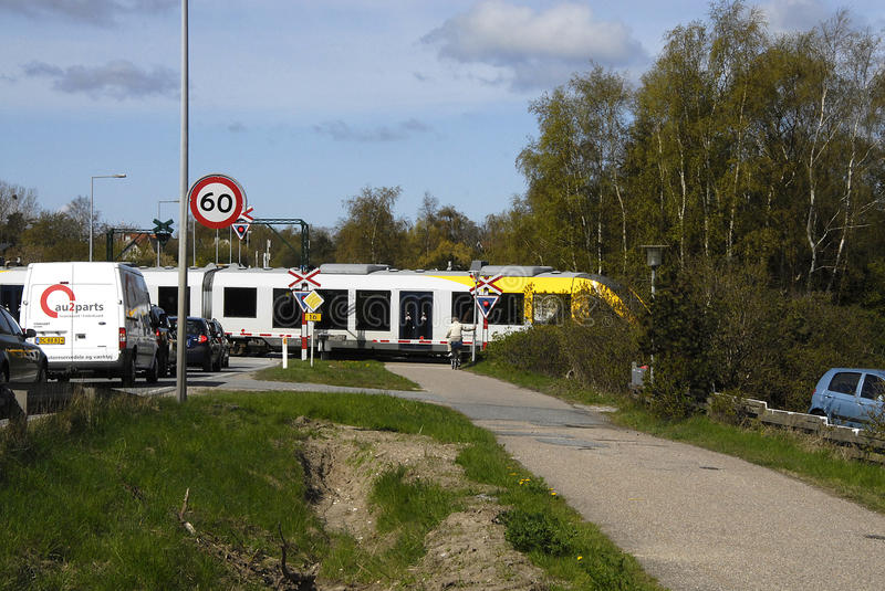 Localbane train. HUNDESTED/DENMARK. 28 April 2015 _Local bane train arrives at Vibe station in danish country side life (Photo by Francis Joseph Dean/ stock photography