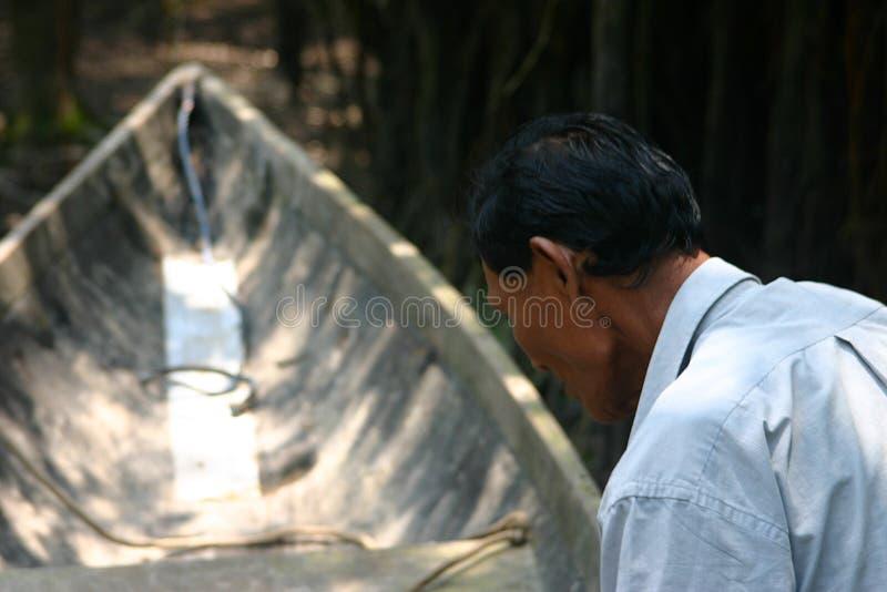 Locale di Amazon in barca fotografia stock
