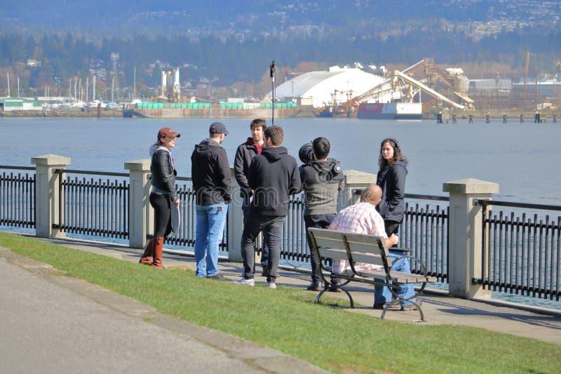 Locale troupe cinematografica di Vancouver, Canada immagine stock libera da diritti
