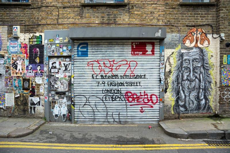 Locali commerciali Arte della via e dei graffiti fotografia stock