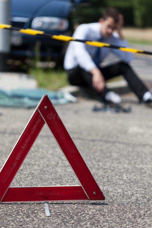 Locali di incidente stradale fotografia stock libera da diritti