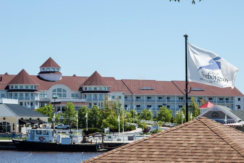 Località di soggiorno blu del porto fotografie stock