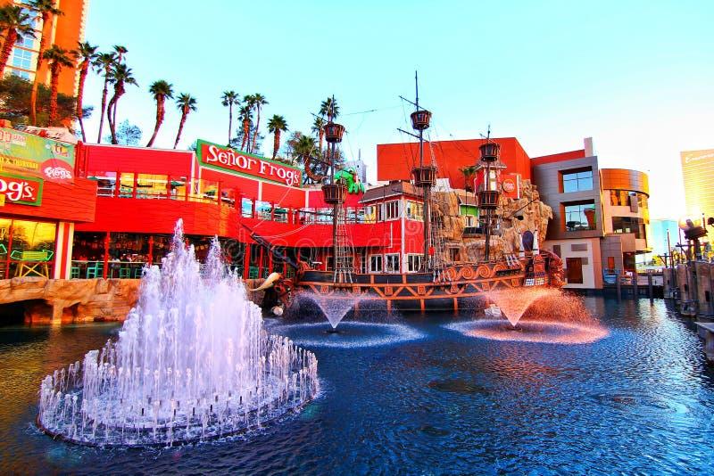 Località di soggiorno dell'hotel del casinò dell'isola del tesoro a Las Vegas immagine stock libera da diritti