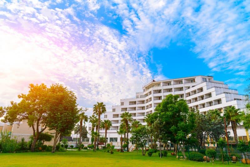 Località di soggiorno dell'hotel, vacanza estiva Turchia del tempo, Goynuk fotografie stock libere da diritti