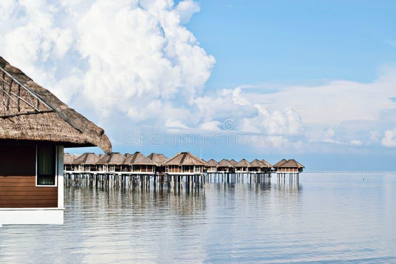 Località di soggiorno della casa di spiaggia immagini stock