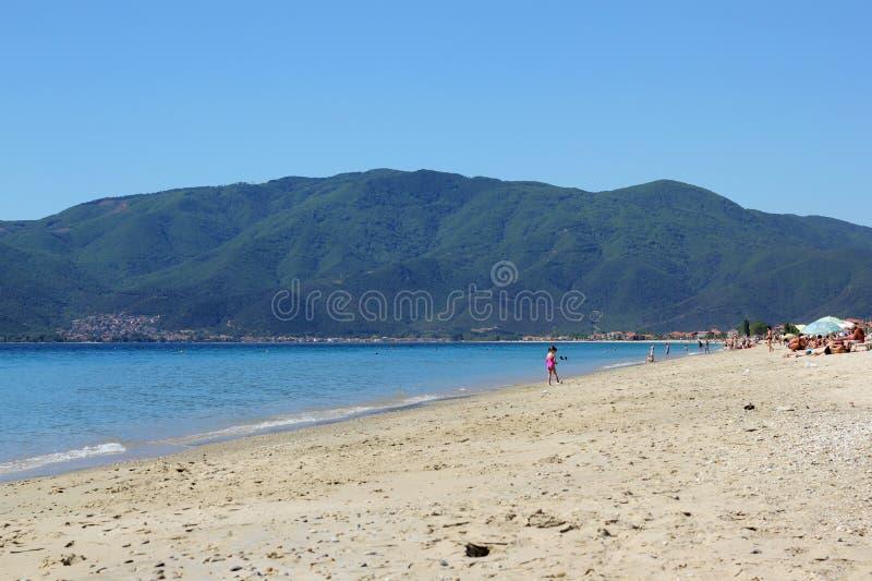 Località Di Soggiorno Di Asprovalta In Grecia Fotografia Stock ...