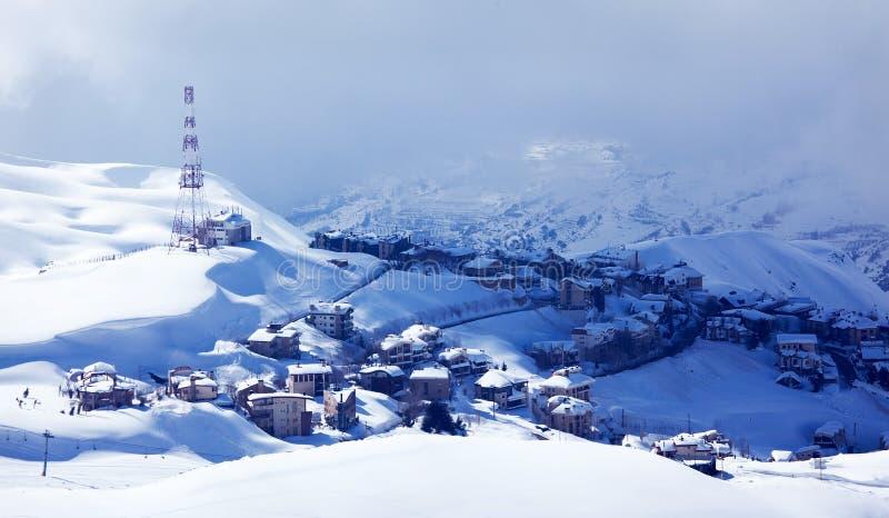 Località di soggiorno di inverno immagini stock libere da diritti
