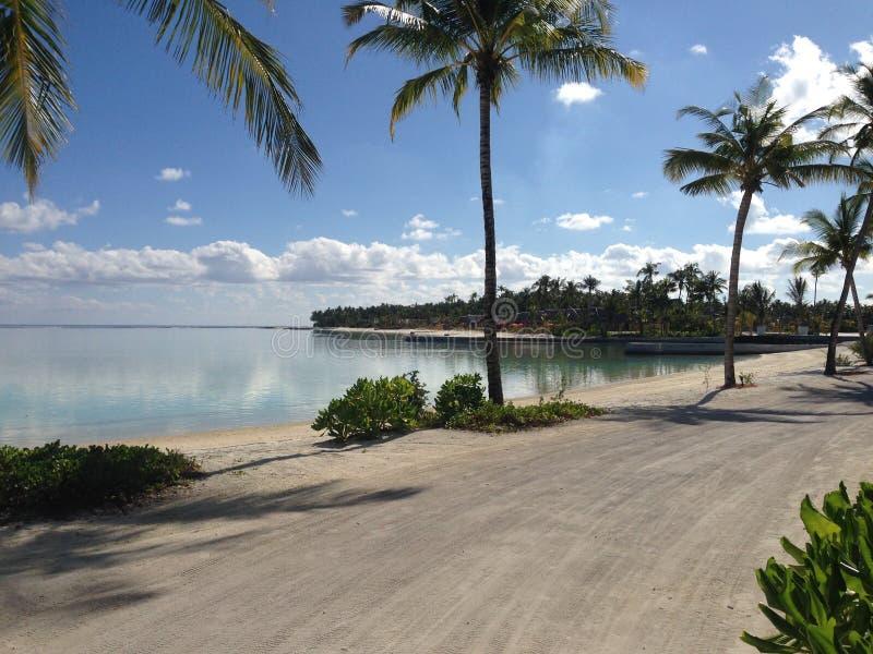 Località di soggiorno di isola di giorno soleggiato NIYAMA delle Maldive immagini stock