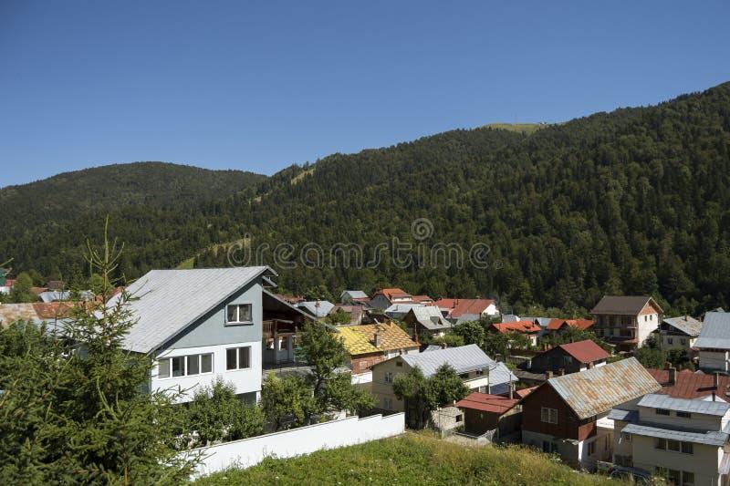 Località di soggiorno di montagna di Azuga fotografia stock libera da diritti