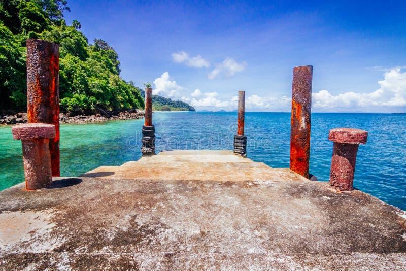 Località di soggiorno di paradiso dell'oceano, Tailandia fotografie stock
