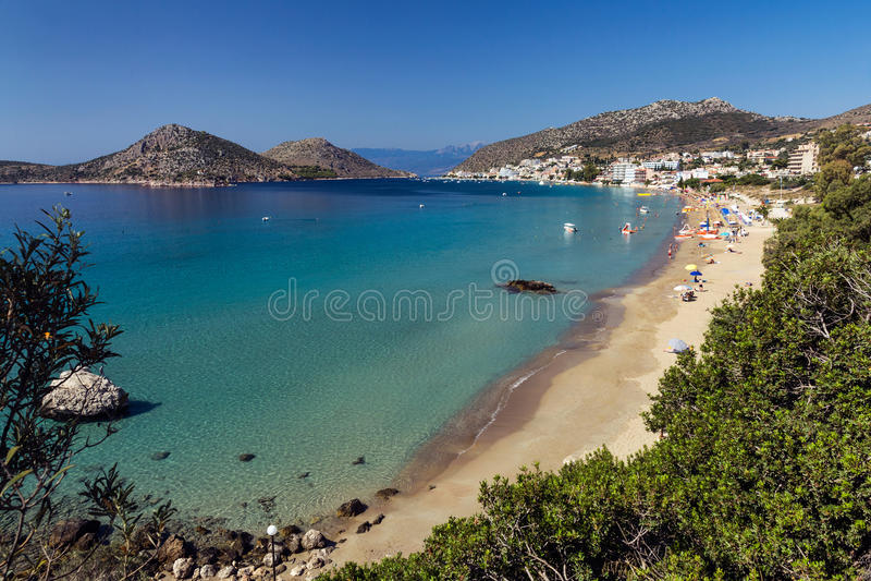 Località Di Soggiorno Grecia Di Tolo Fotografia Stock - Immagine di ...