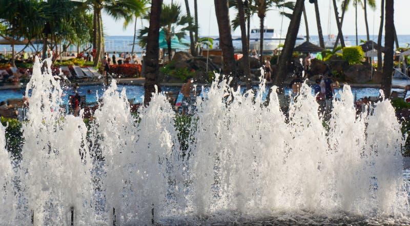 Località di soggiorno di Hilton Hawaiian Village Waikiki Beach fotografia stock libera da diritti