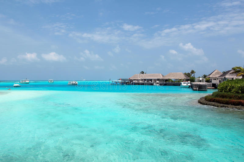 Località di soggiorno in Maidives immagini stock