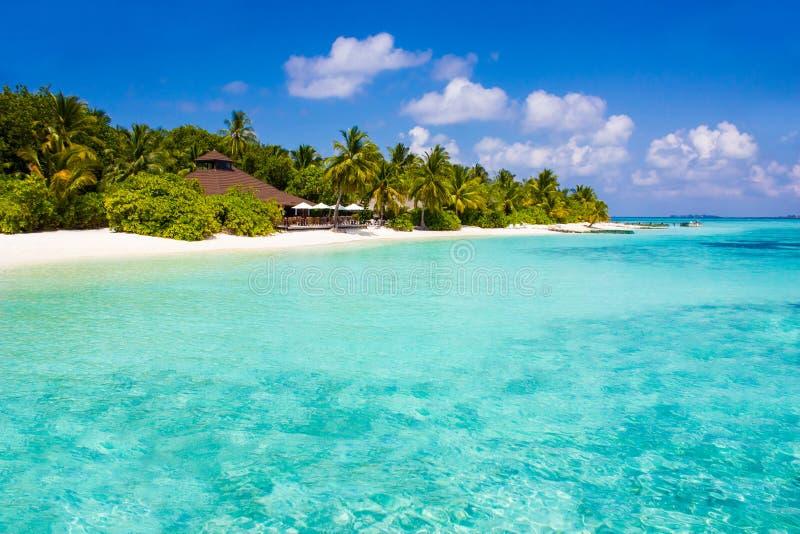 Località di soggiorno in Maldive, l'Eden di luna di miele di VIP su terra fotografie stock
