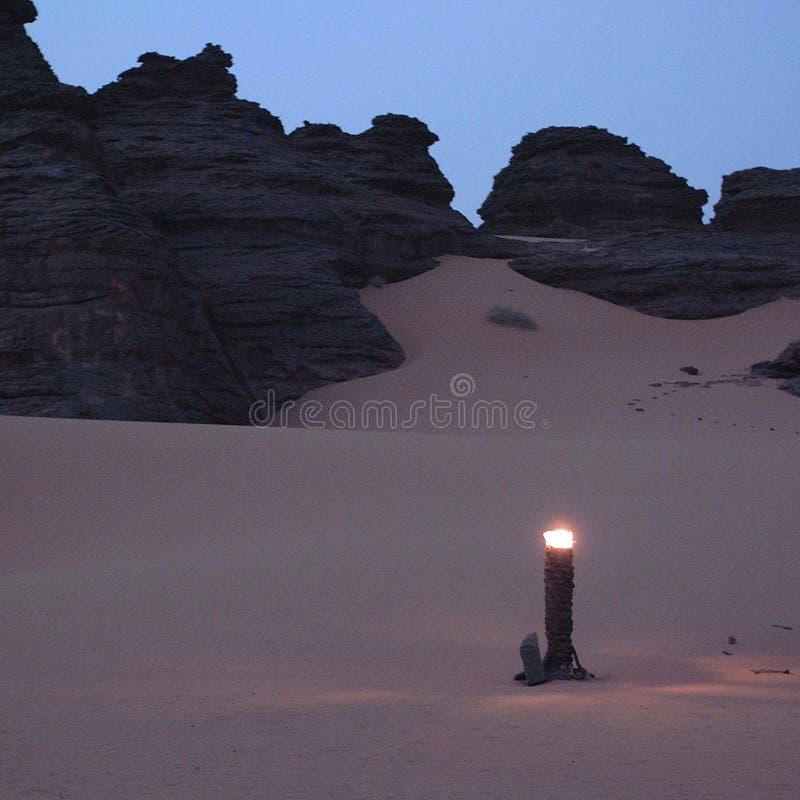 Località di soggiorno nel deserto di Ubari fotografia stock