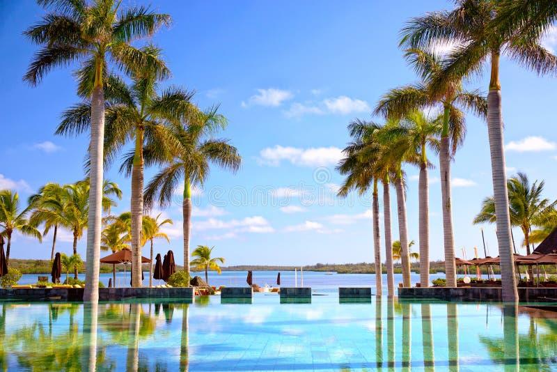 Località di soggiorno tropicale fotografia stock libera da diritti