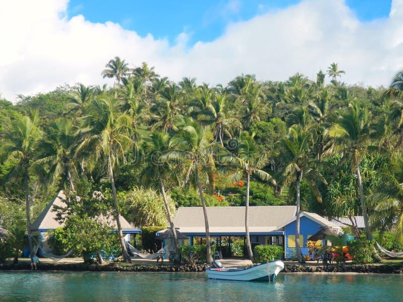 Località di soggiorno tropicale all'isola del Nananu-io-Ra, Figi fotografia stock libera da diritti