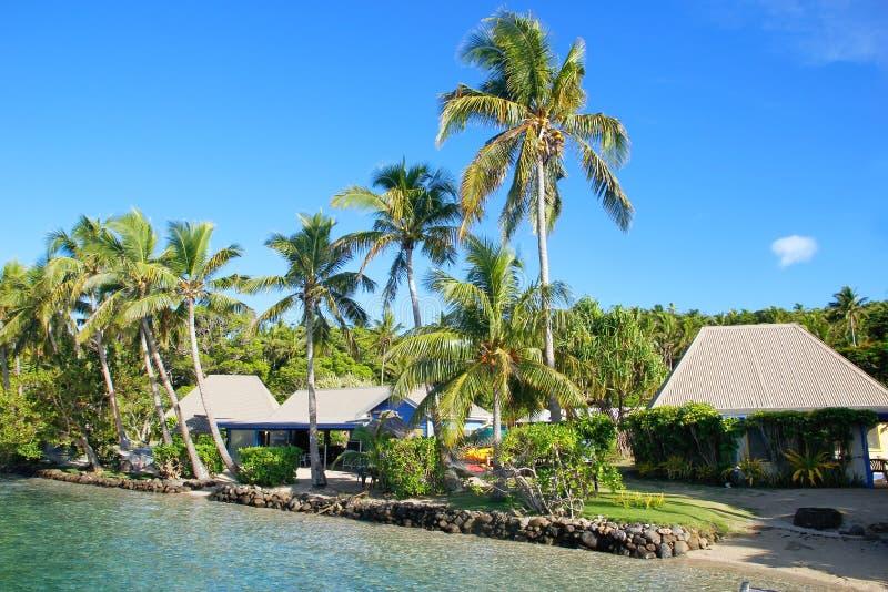 Località di soggiorno tropicale all'isola del Nananu-io-Ra, Figi immagini stock