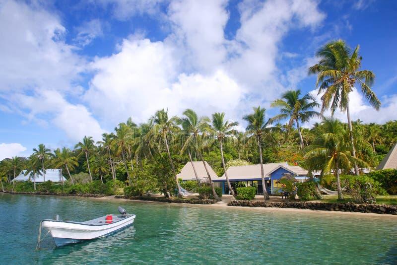 Località di soggiorno tropicale all'isola del Nananu-io-Ra, Figi fotografia stock