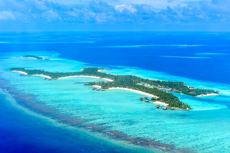 Località di soggiorno uno & soltanto di Reethi Rah, dell'isola di estate & di isola di Madivaru fotografia stock
