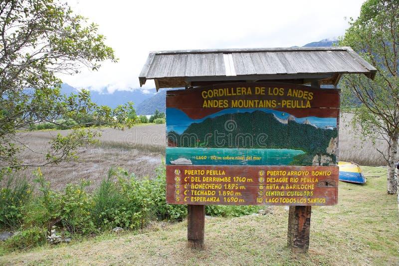 Localité de Peulla, Chili photographie stock libre de droits