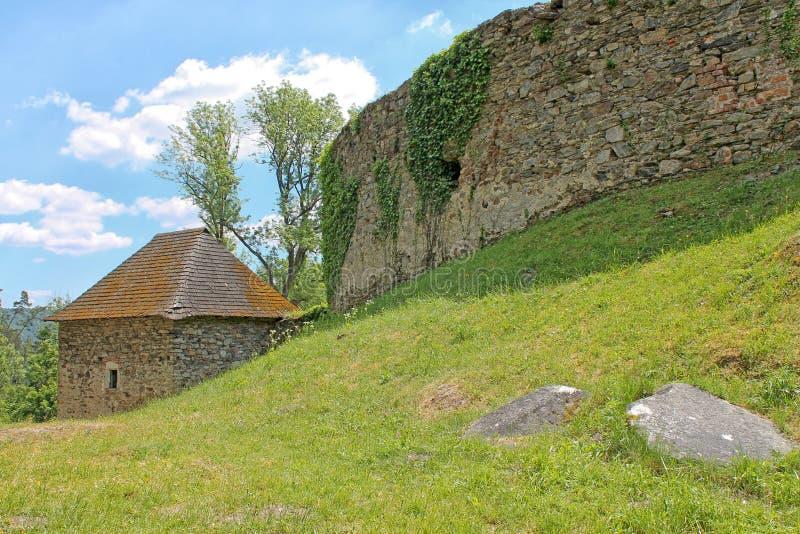 Localité près de château de Pernstejn Région du sud de Moravian, République Tchèque photographie stock libre de droits