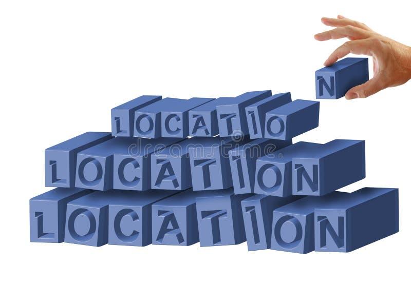 Localización, localización, localización ilustración del vector