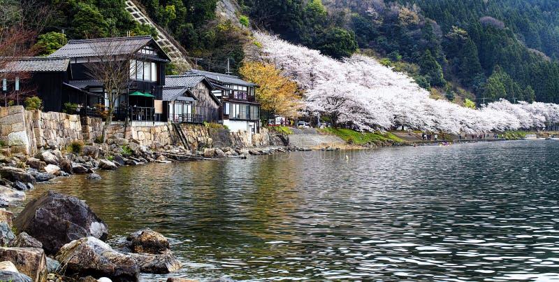 Localizado en la prefectura de Shiga Makino Takashima-cho Kaizu imagenes de archivo