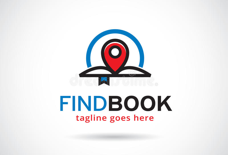Localizador Logo Template Design Vector, emblema, concepto de diseño, símbolo creativo, icono del libro ilustración del vector